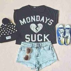 This shirt! Love it <3 The hat is pretty damn adorable also.Just A Cute Outfit.