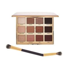 tarte Tartelette In Bloom Amazonian Clay Eye Shadow Palette & Brush ($40) ❤ liked on Polyvore featuring beauty products, makeup, eye makeup, eyeshadow, tarte eye-shadow, tarte eyeshadow, eyeshadow brush, shadow brush and palette eyeshadow