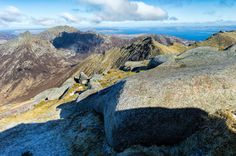 Cir Mhor, Caisteal Abhail, North Goatfell and the Firth of Clyde from the summit of Goatfell on the Isle of Arran. Image taken on a Leica S2 camera.