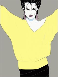 Patrick Nagel--I still love these--such an 80s girl!!