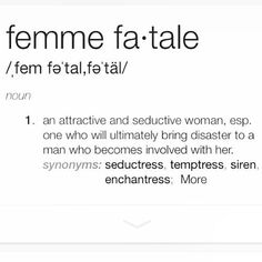 Image result for femme fatale quotes
