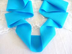 Sea Blue Shiny Elastic Lycra Lace Superior Quality by Superior Quality, 1 Piece, Headbands, Sea, Unique, Lace, Crafts, Etsy, Bricolage