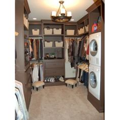 Washer an dryer in the closet---good grief how spoiled can we get ha...