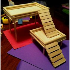 Do it Yourself ~ Hamster Hang Out First time at this project, do it yourself st. - Do it my self Diy Hamster Toys, Hamster Care, Hamster House, Guinea Pig Toys, Guinea Pigs, Hamster Stuff, Hamster Treats, Winter White Hamster, Mouse Cage