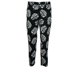 Dolce Gabbana Palm Leaf Print Trousers ($560) ❤ liked on Polyvore featuring pants, dolce gabbana pants, palm print pants, palm tree pants and dolce gabbana trousers