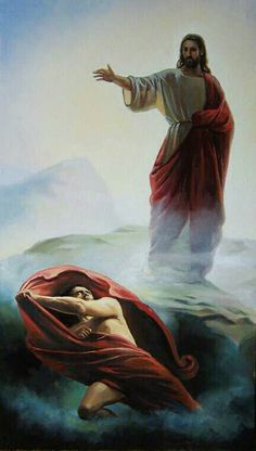 My copy work of Carl Bloch Jesus Tempted, done two years ago.