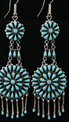 10 DIY Turquoise Earrings Projects ...t while the blue hue is because of its copper substance and whereas the yellow green hue is caused by the zinc's presence in the stone. Another good c...is however perceived to be as an expensive jewelry and so it needs proper care and maintenance. In fact some of the simplest yet effective ways on h #melaniecasey.com/products/unveiled-ring-with-pave-band-2ct-round-cut #turquoise-earrings #jewelry Turquoise Earrings, Silver Earrings, Silver Jewelry, Vintage Jewelry, Silver Ring, Vintage Turquoise Jewelry, Silver Bracelets, Diamond Jewelry, Cuff Bracelets