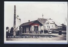 REAL PHOTO THORNDIKE MAINE CENTRAL RAILROAD DEPOT STATION POSTCARD COPY