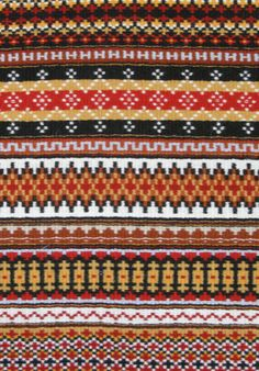 "Scandinavian boundweave | ""Wisconsin Reds"" by Jane Connett"