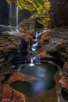 https://flic.kr/p/qeFfzG | Watkins Glen | Rainbow Falls, Watkins Glen State…