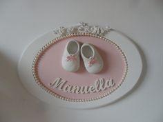 Quadro Oval Porta Maternidade   By Analu Artesanatos   Elo7