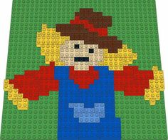 A colorful scarecrow, complete with a pocket on the overalls Lego Mosaic, Halloween Scarecrow, Construction, Building, Kids, Design, Young Children, Boys, Buildings