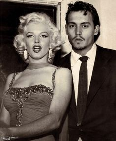 Reality check! Johnny Depp and Marilyn Monroe may look cute together, but Monroe actually died a year before Depp was even born.