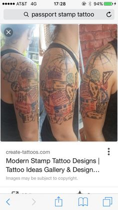 I'm wondering what people think of this tattoo thinking of getting it with all my passport stamps