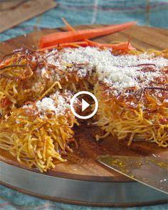 Fried Pasta Snack Using Leftover Spaghetti