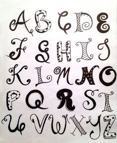 Handlettered Alphabet #1 by Ashley Bojc