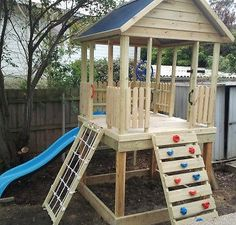 Backyard Swing Sets, Backyard Playset, Backyard Playhouse, Backyard For Kids, Play Structures For Kids, Outdoor Play Structures, Kids Outdoor Play, Outdoor Play Spaces, Wooden Fort