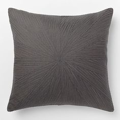 Embroidered Starburst Pillow Cover – Slate | west elm