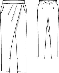 Ideas for sewing pants diy trousers Sewing Pants, Sewing Clothes, Diy Clothes, Ladies Clothes, Crossover, Wrap Pants, Flat Sketches, Pantalon Large, Modelista
