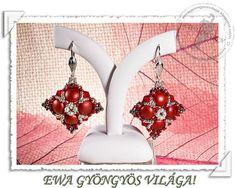 Milda beaded earrings PDF pattern by EwaHotBeads on Etsy Beaded Jewelry Patterns, Beading Patterns, O Beads, Bead Jewellery, Jewlery, Earring Tutorial, Selling Jewelry, Bead Weaving, Perler Beads