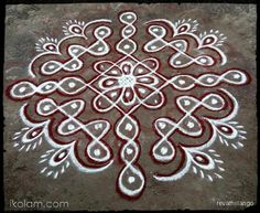 Rangoli 9 to 1 straight dots.: Rev's chikku kolam by revathiilango Indian Rangoli Designs, Rangoli Border Designs, Rangoli Patterns, Rangoli Designs Images, Rangoli Ideas, Rangoli Designs With Dots, Kolam Rangoli, Rangoli With Dots, Beautiful Rangoli Designs