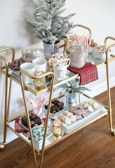 """Exceptional """"bar cart decor inspiration"""" information is offered on our site. Rea… Exceptional """"bar cart decor inspiration"""" information is offered on our site. Read more and you wont be sorry you did. Diy Bar Cart, Gold Bar Cart, Bar Cart Styling, Bar Cart Decor, Bar Carts, Canto Bar, Coin Café, Hot Cocoa Bar, Hot Chocolate Bars"""