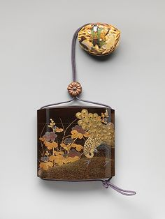 Koma Yasutada (Japanese). Inrō with Peacocks and Flowers, 19th century. Edo period (1615–1868). Japan. The Metropolitan Museum of Art, New York. The Howard Mansfield Collection, Purchase, Rogers Fund, 1936 (36.100.241) #peacock