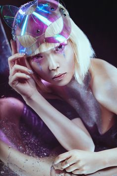 Glow by Lina Aster #fashion #editorial #silver #scifi #futuristic