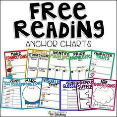 Even the most excitable teacher can get tired of making Anchor Charts for Read standards! These Reading Comprehension Anchor Charts are easy to print, laminate, and use right away! They can be printed on poster paper to easily be placed on a whiteboard or Reading Intervention, Reading Skills, Reading Tips, Third Grade Reading, 5th Grade Ela, Middle School Reading, Fifth Grade, Grade 2, Reading Comprehension Strategies