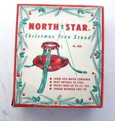 Items similar to Vintage North Star Christmas Tree Stand - New in Box - Mid Century NOS Holiday Decor - Christmas in July on Etsy Christmas Scenes, Retro Christmas, 12 Days Of Christmas, Christmas Tree, Christmas Decor, Vintage Christmas Images, Vintage Holiday, Christmas Photos, Holiday Images