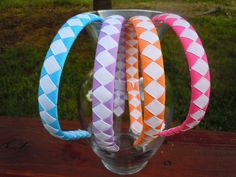 4 Woven Braided Ribbon Headband 1/2 Inch wide by ExcuseMeDesigns