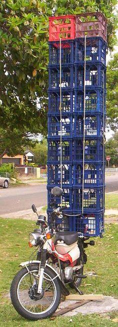 Plastic crates. www.urbanrambles.com