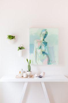 Mint green body artwork via Alyssa Rosenheck