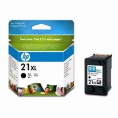 Cartucho de tinta original HP 21 XL de alta capacidad. Tinta: Negra. Rendimiento: 475 páginas