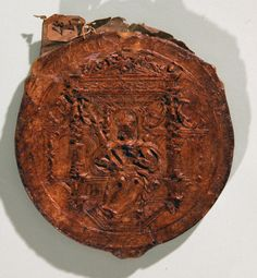 Mary Queen of Scots seal, reverse, 1551, The National Archives reference: SC13/I37.