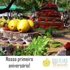 O dia de ontem ficou na nossa memória, na nossa história e com certeza no nosso coração! A comemoração do nosso primeiro aniversário foi linda, do jeitinho que planejamos. Muita emoção, amor e gratidão por todos que foram ao nosso #piquenique e deixaram nosso dia mais feliz! <3 <3 <3  #DelíciasMaciel #aniversáriode1ano #1anoDelíciasMaciel