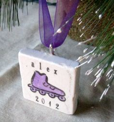 Personalized Rollerblade Ornament,