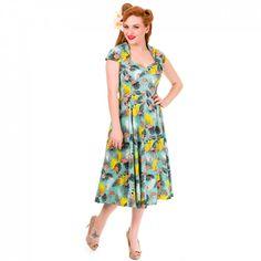 Banned Vintage Kleid - Flamingo Tropicana