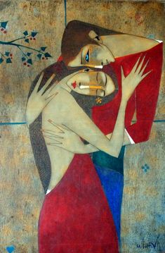 Risultato immagini per mitchev Figure Painting, Painting & Drawing, Cubist Art, Frida Art, Modern Art Paintings, Arte Pop, Portrait Art, Indian Art, Figurative Art