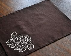 Linen Placemats Set of 6 Hand Embroidery Linen Table от Rokasdarbi