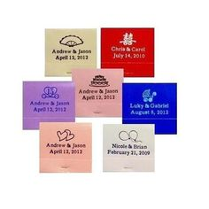 100 Pack Personalized Matchbook Wedding Favors with 30 Stem Matches - Customize Personalized Wedding Favors, Personalized Tags, Wedding Party Favors, Wedding Events, Wedding Decorations, Light Up The Candle, Event Planning Tips, Wedding Planning, Budget Wedding