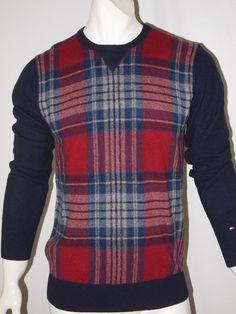 Tommy Hilfiger men's crew neck wool blend sweater size large NWT #TommyHilfiger #Crewneck