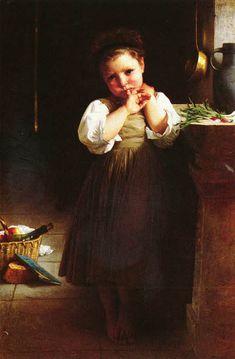 Petite boudeuse-William Adolphe Bouguereau