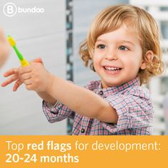 There are certain signs you shouldn't ignore in your child's physical or emotional development. Know the red flags for development from 20-24 months.
