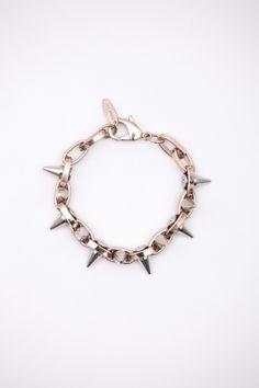 Joomi Lim - Gold/Silver Double Row Spike Bracelet
