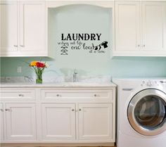 Laundry Sorting Out Life One Load At A Time (A) vinyl wall decal Wall Saying Vinyl Lettering http://www.amazon.com/dp/B00BMAIQZS/ref=cm_sw_r_pi_dp_62glvb0DFV0CH