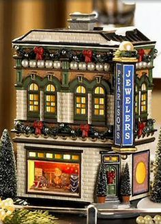 Department 56 Snow Village Pearlson S Jewelry for sale online Department 56 Christmas Village, Lemax Christmas Village, Dept 56 Snow Village, Christmas Villages, Christmas In The City, Christmas Town, Beautiful Christmas, Christmas Ideas, Halloween Pumpkins