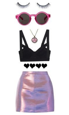 """Electra Heart"" by mariap2063 ❤ liked on Polyvore featuring moda, Monki, Napoleon Perdis, vintage, marinaandthediamonds, inspiration, pinup y electraheart"