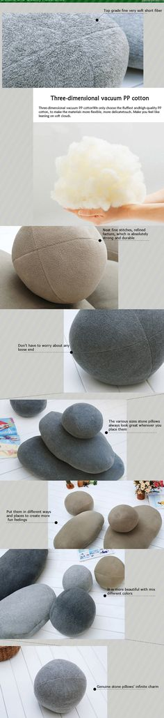 Living stones pillow Are Surrealistic Soft Rock Pillows