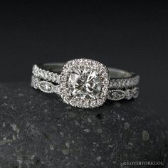 Hey, I found this really awesome Etsy listing at https://www.etsy.com/listing/279282514/halo-cushion-cut-moissanite-engagement